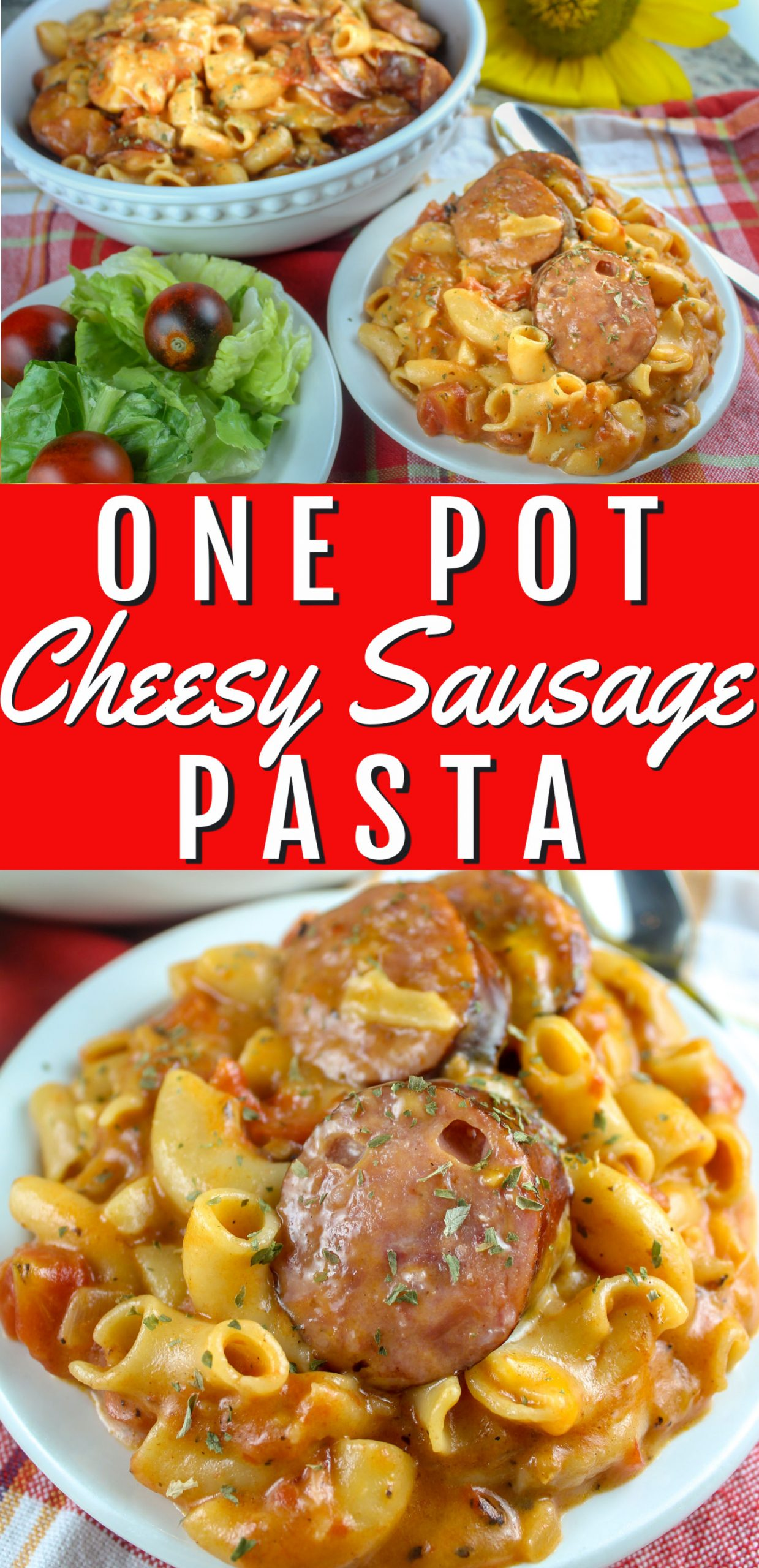 This is the cheesiest sausage one pot pasta you'll ever try! It's my favorite comfort food recipe and it's quick and easy! via @foodhussy