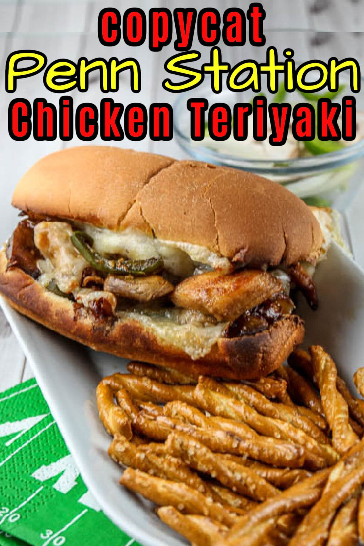 The Penn Station Chicken Teriyaki sub is one of my favorite Cincinnati area sandwiches and it is so delicious! It's tangy and filled with chicken, veggies and – of course – cheese! You'll love it! via @foodhussy