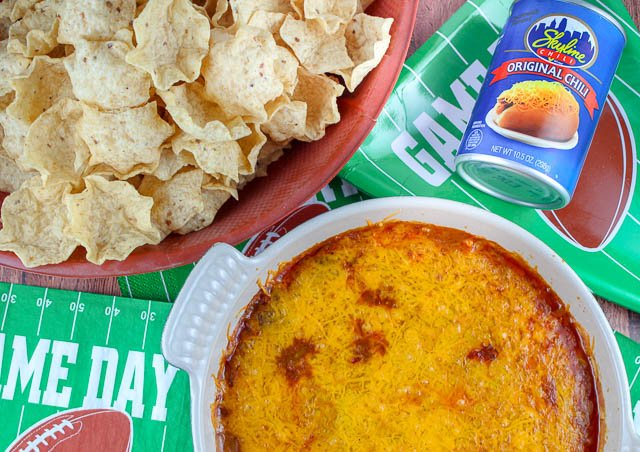 Skyline Chili Dip is a staple in Cincinnati - it's at every game day party - but why should we keep this secret to ourselves?! Cincinnati Chili is a greek chili that is very unique with hints of cinnamon, chili powder and so much more. Pair that with cream cheese and loads of shredded cheddar - you're going to love it!