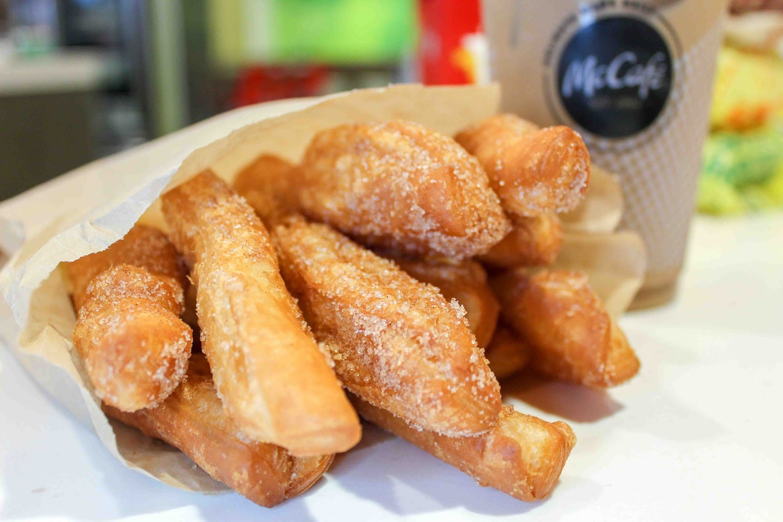 Donut Sticks are here! Head to your local McDonalds to try them! They're light, crispy and dusted with cinnamon sugar! yum!