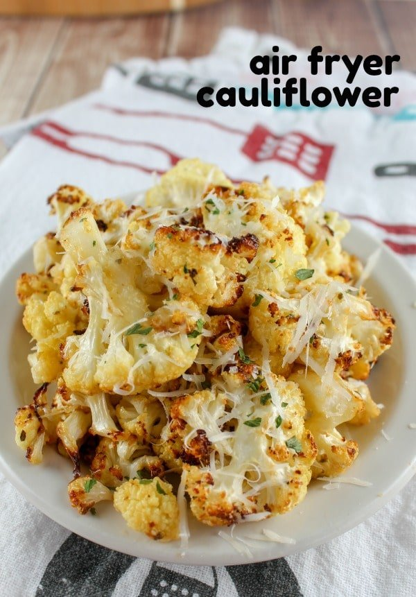 Roasted Cauliflower is all the rage right now – but I wanted to do it quicker and easier – so I turned to my air fryer! You toss your cauliflower in one special ingredient and you're done! It's also way quicker than using the oven and I think it tasted much better.  via @foodhussy