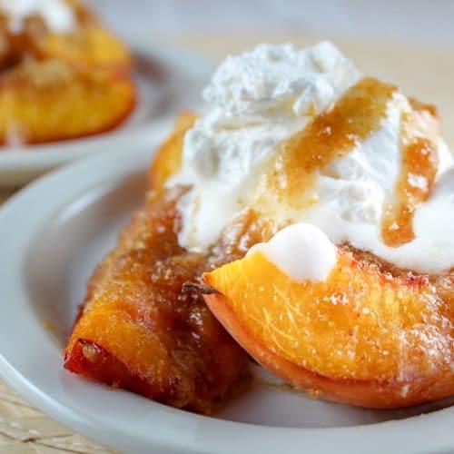 Air Fryer Grilled Peaches
