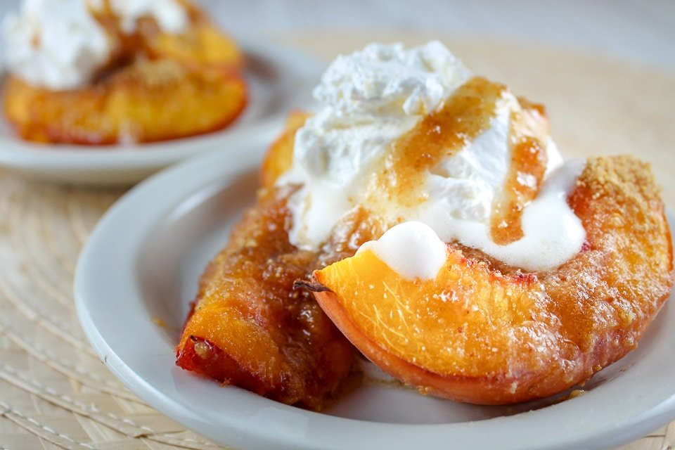 Air Fryer Grilled Peaches