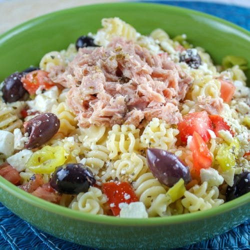 Greek Tuna Pasta