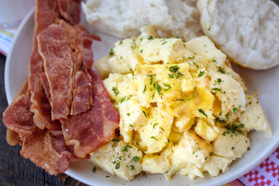 Baked Scrambled Eggs Or Air Fryer Scrambled Eggs The Food Hussy