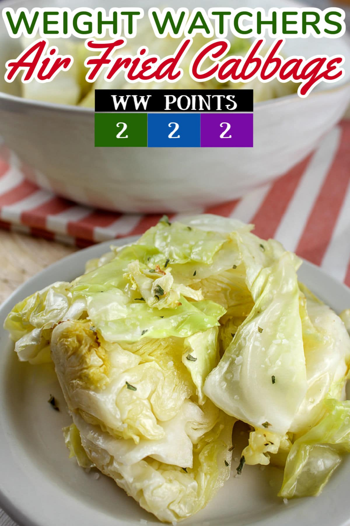 Air Fried Cabbage is my new favorite side dish. Cabbage is such a healthy food – and we think of it as either cold & crunchy or hot & soggy – but NOT anymore! This healthy fried cabbage is light and still has a nice bite to it!  via @foodhussy
