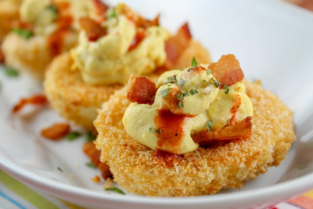 Deep Fried Deviled Eggs (Air Fryer Version)
