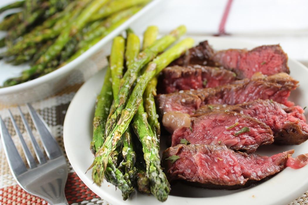 Air Fryer Steak & Asparagus