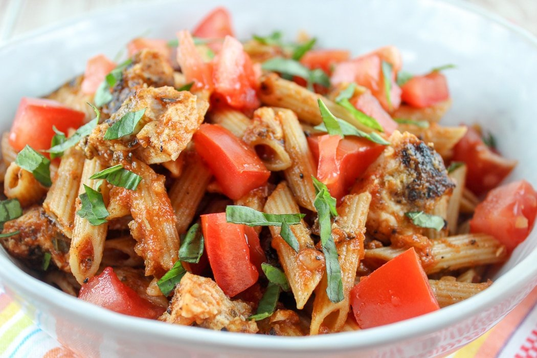 Copycat Cheesecake Factory Skinnilicious Chicken Pasta