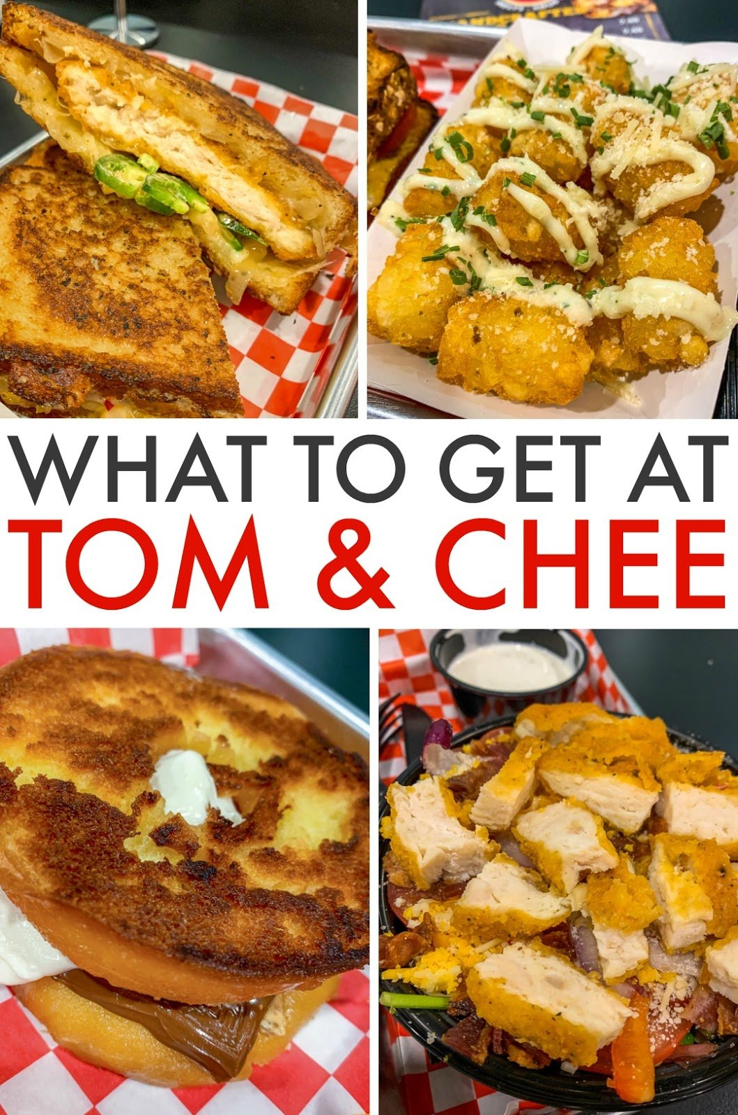 What to eat when you go to Tom & Chee Grilled Cheese Restaurant!