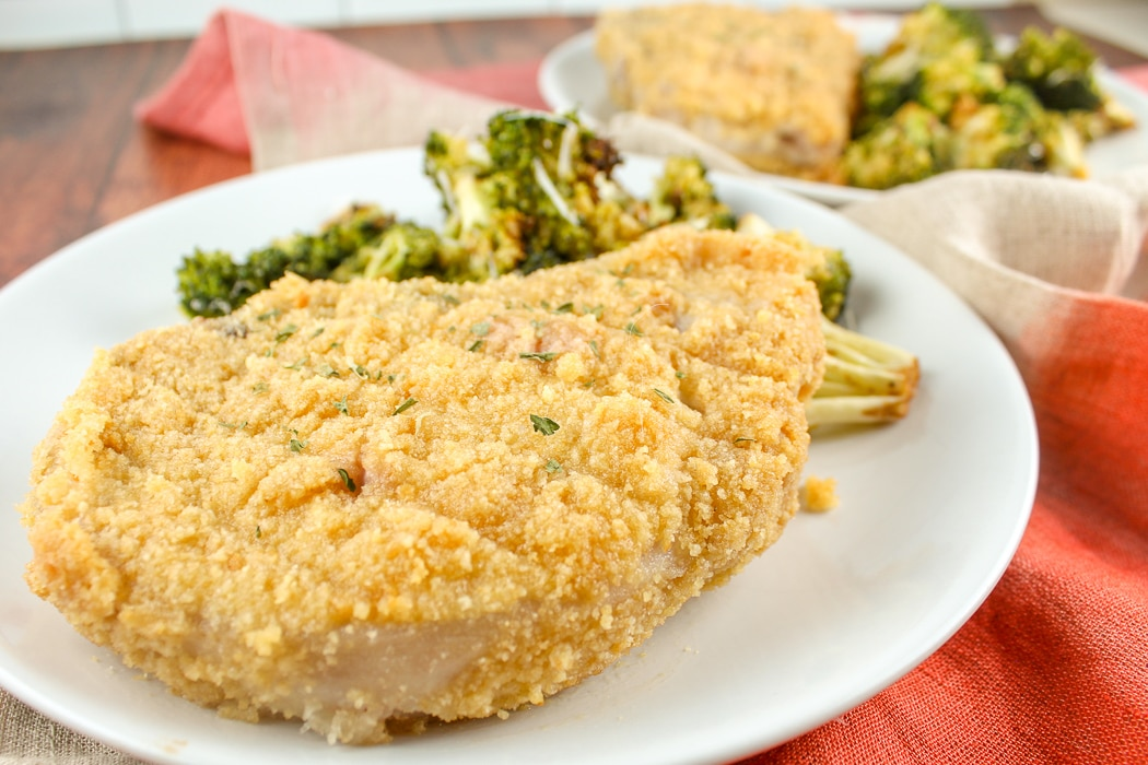 Breaded Oven Baked Pork Chops