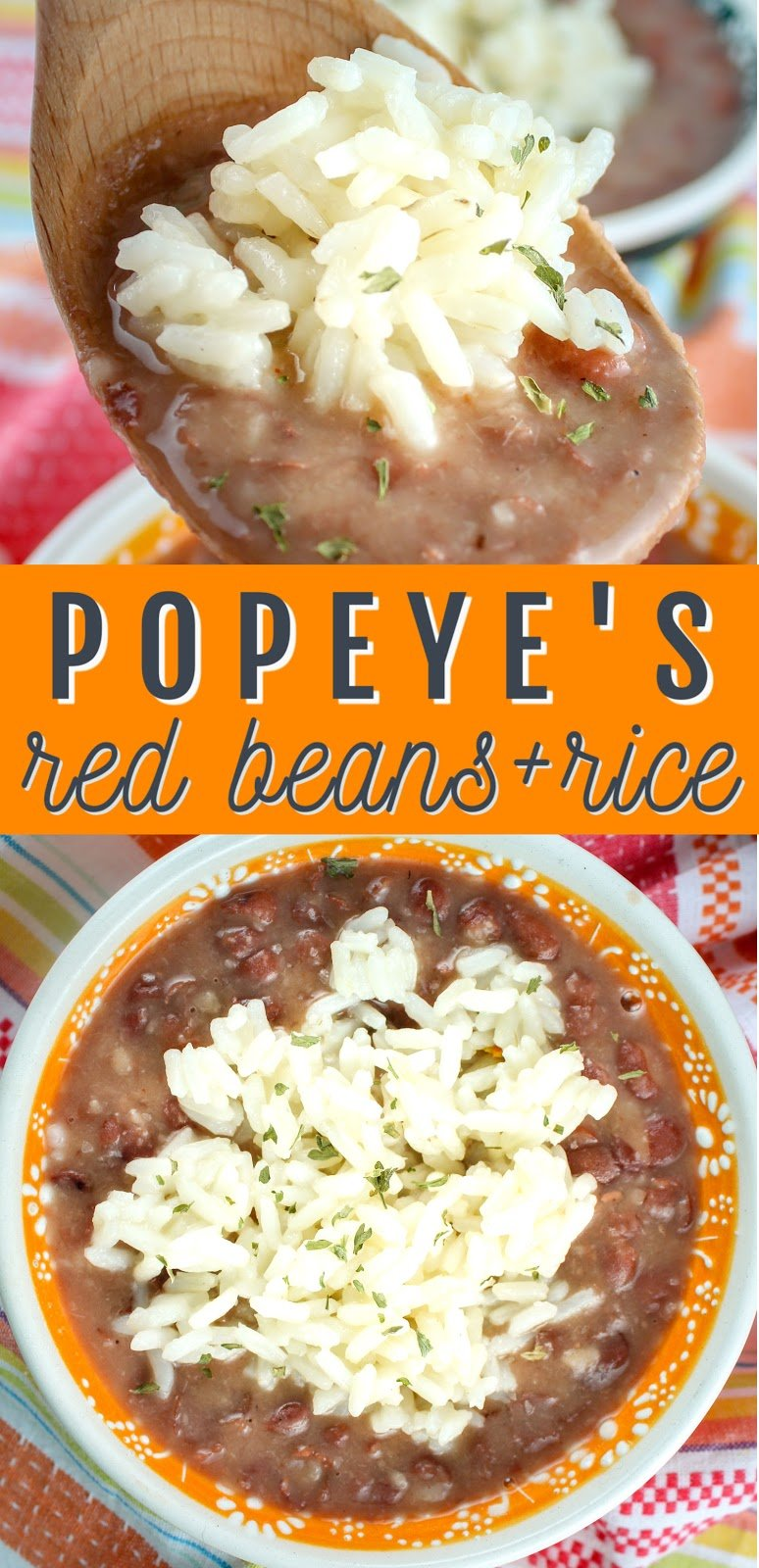Popeye's Red Beans & Rice is one of my favorite take-out side dishes and making it at home is SO SIMPLE!!!! Creamy red beans with a slightly smoky flavor topped with fluffy white rice – the perfect side!  via @foodhussy