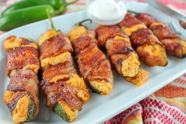 Air Fryer Bacon Wrapped Taco Stuffed Jalapenos Recipe
