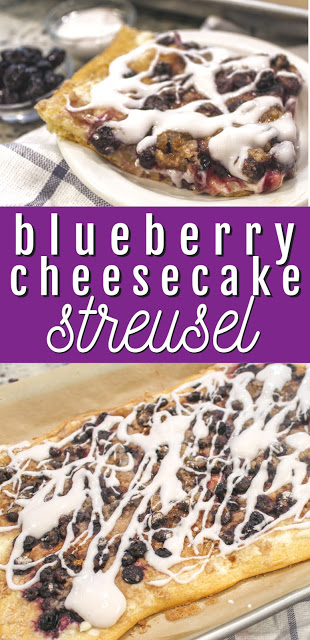 Blueberry Cheesecake Streusel