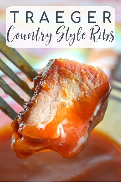 Smoking country style ribs on the Traeger is a delicious new way to enjoy an affordable and delicious cut of pork. via @foodhussy