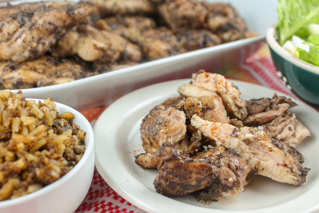 air fryer jerk chicken thighs