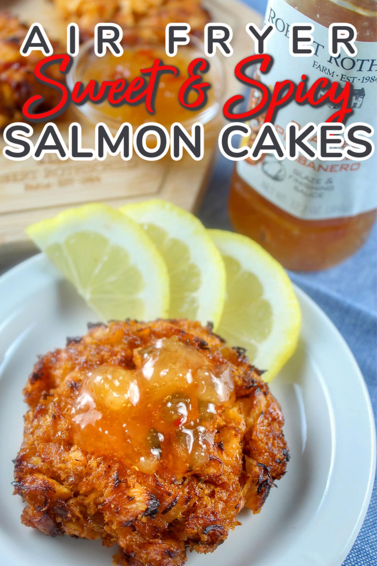 Air Fryer Salmon Cakes are delicious and so simple! My dad used to make salmon patties all the time - but this recipe is so much tastier! It's also got a kick to it with a secret ingredient!  via @foodhussy