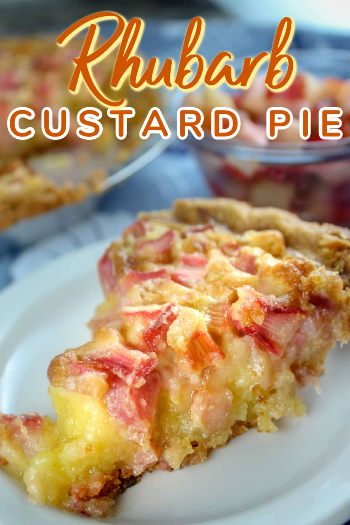 Rhubarb Custard Pie is my favorite dessert but I've never made it - so this year - I decided to give it a whirl for my birthday!