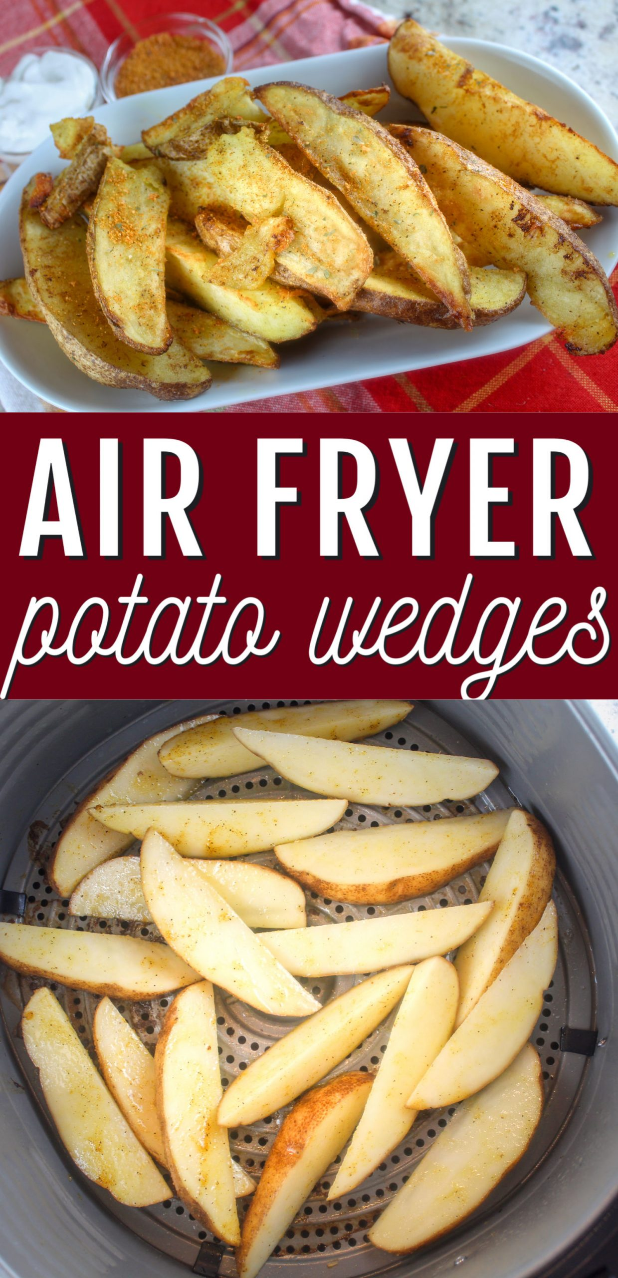 Air Fryer Potato Wedges are a new favorite in our house! They are so quick to make and super crispy and on the table in twenty minutes with just a dash of olive oil!  via @foodhussy