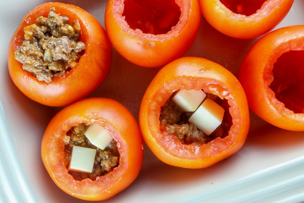 Baked Taco Stuffed Tomatoes
