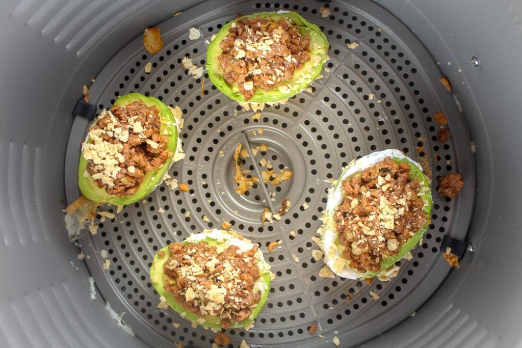 Air Fryer Taco Stuffed Avocados