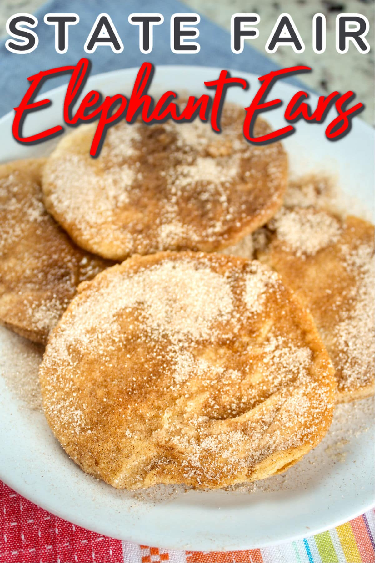 We're all missing the State Fair this year - but you can still make your own Copycat Elephant Ears with just a few ingredients! via @foodhussy