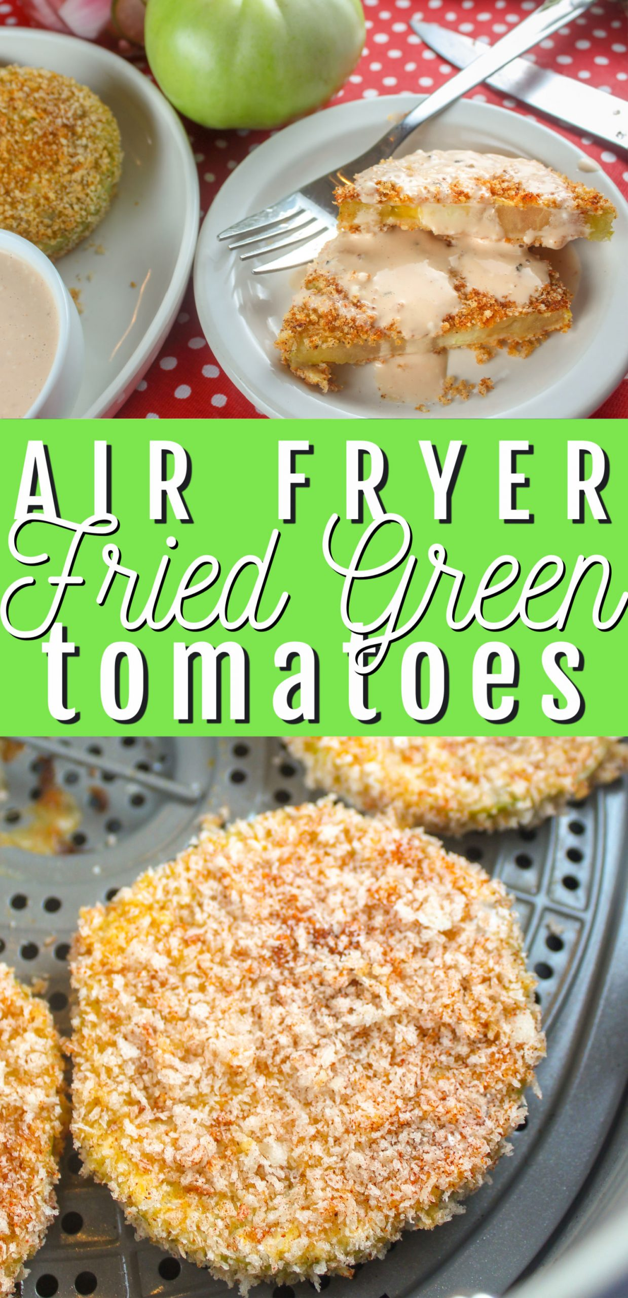 Fried Green Tomatoes are a staple in the south and I always make sure to snag some when I head to Alabama to visit my friends. I saw some beautiful green tomatoes at the farmers market and decided to make them at home - of course in my air fryer!  via @foodhussy