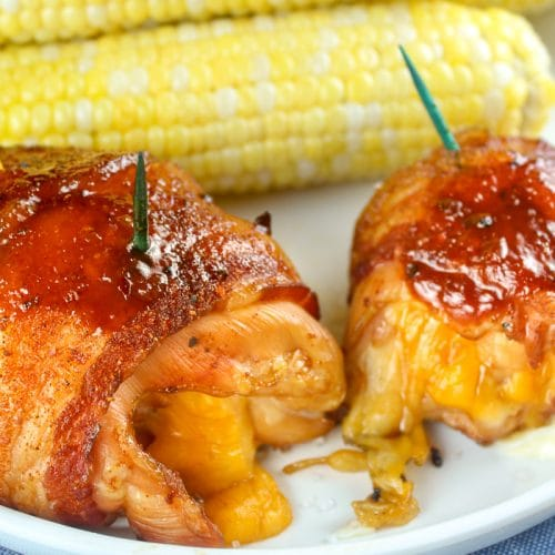 Smoked Bacon Wrapped Chicken Thighs