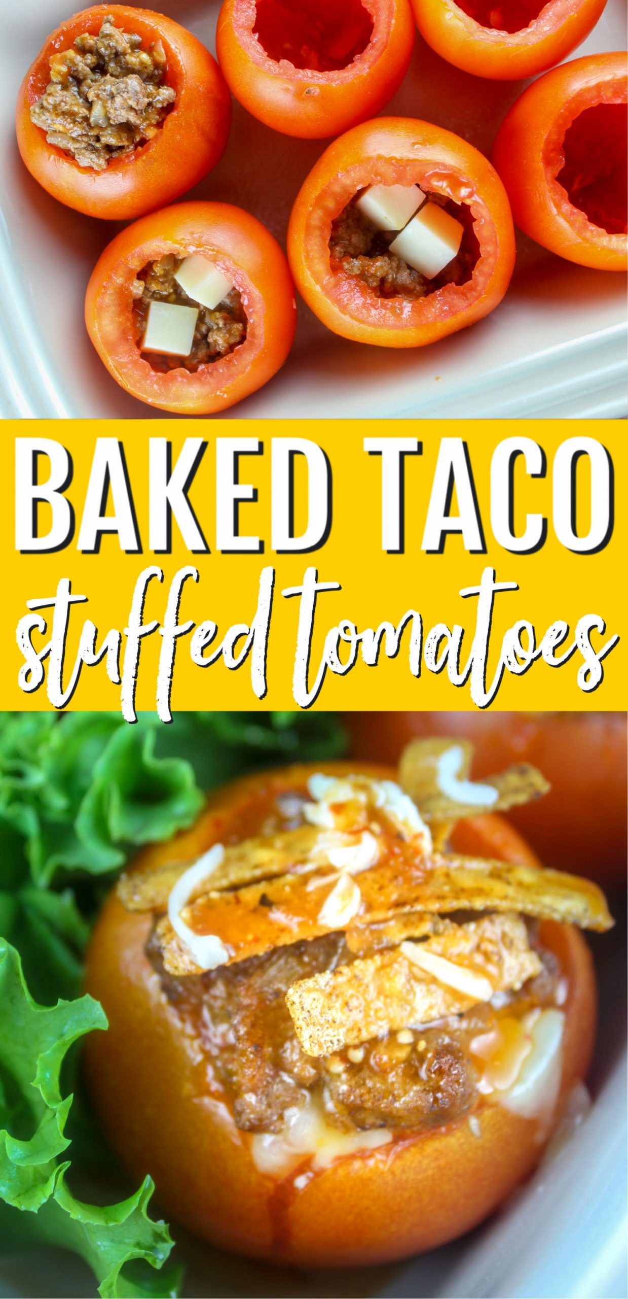 Baked Taco Stuffed Tomatoes are so easy to make and delicious! It's like a taco without the shell!  via @foodhussy