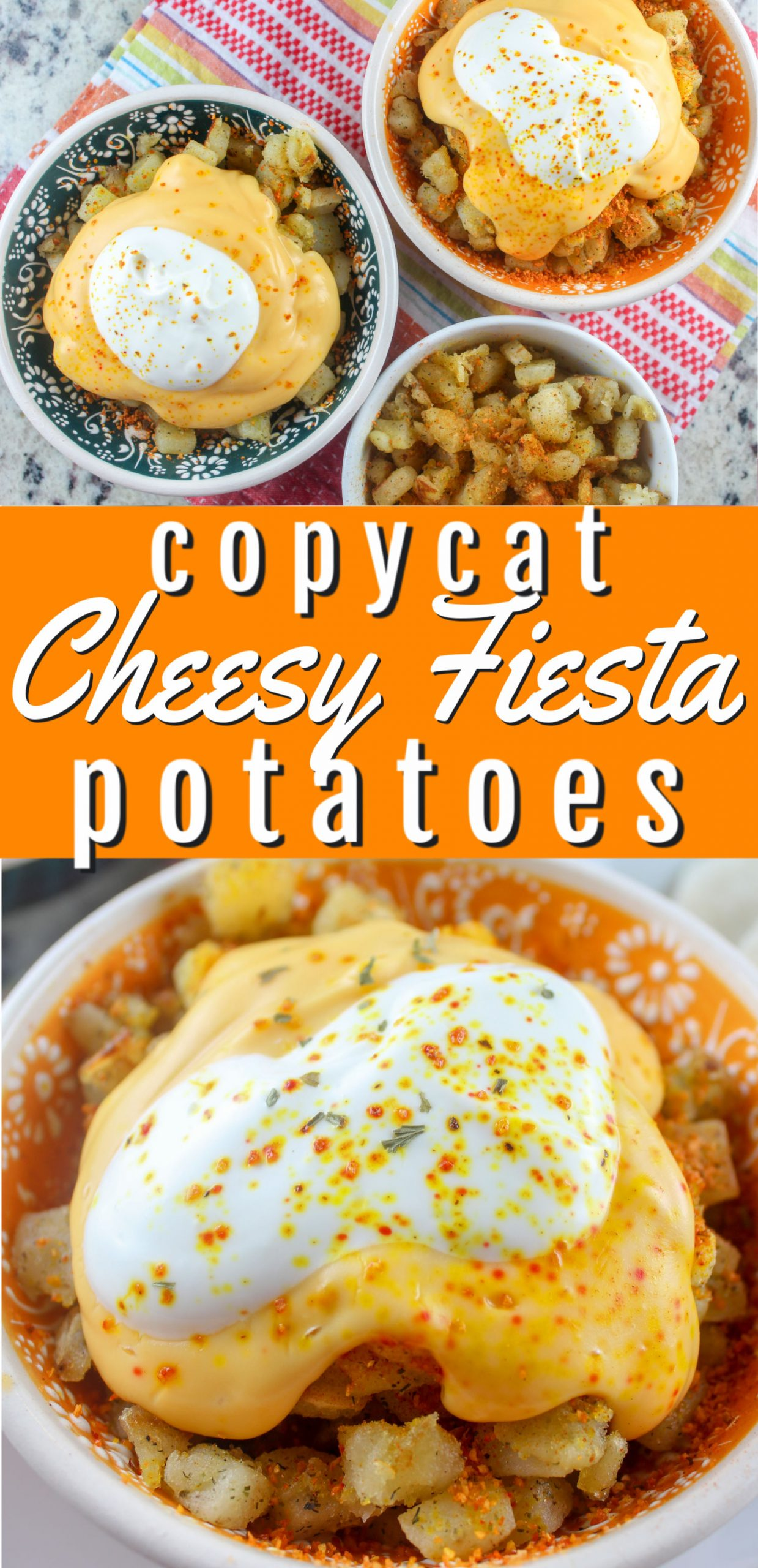 Taco Bell's Cheesy Fiesta Potatoes are being discontinued but it doesn't mean you can't enjoy them! I love those spicy nuggets covered in cheese and sour cream!  via @foodhussy