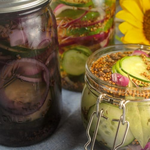 No Cook Refrigerator Pickles