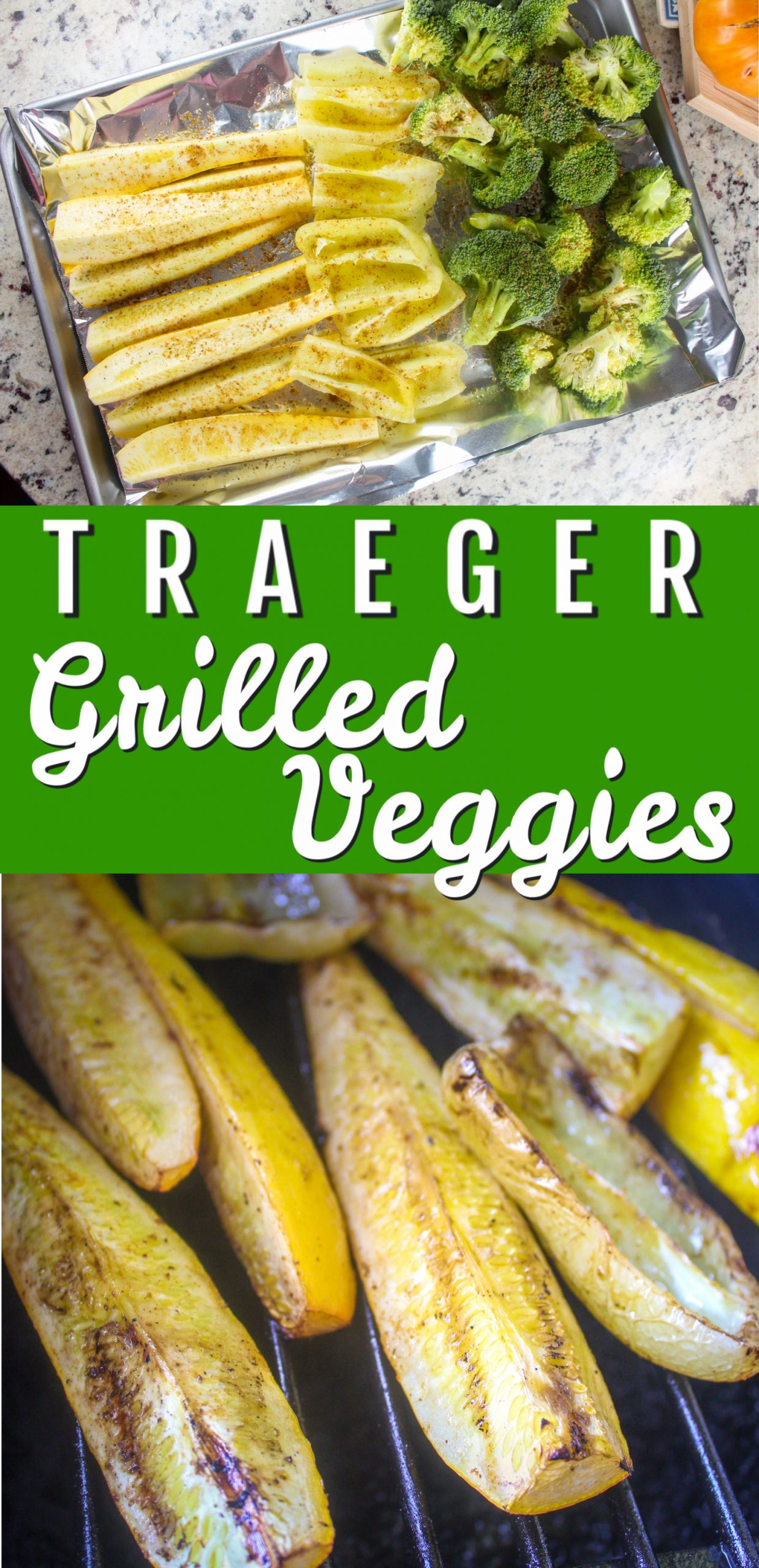 Using the Traeger to grill vegetables is the easiest summertime side you'll find! Set it and forget it - plus the smoky flavor from the Traeger pellets is delicious!  via @foodhussy
