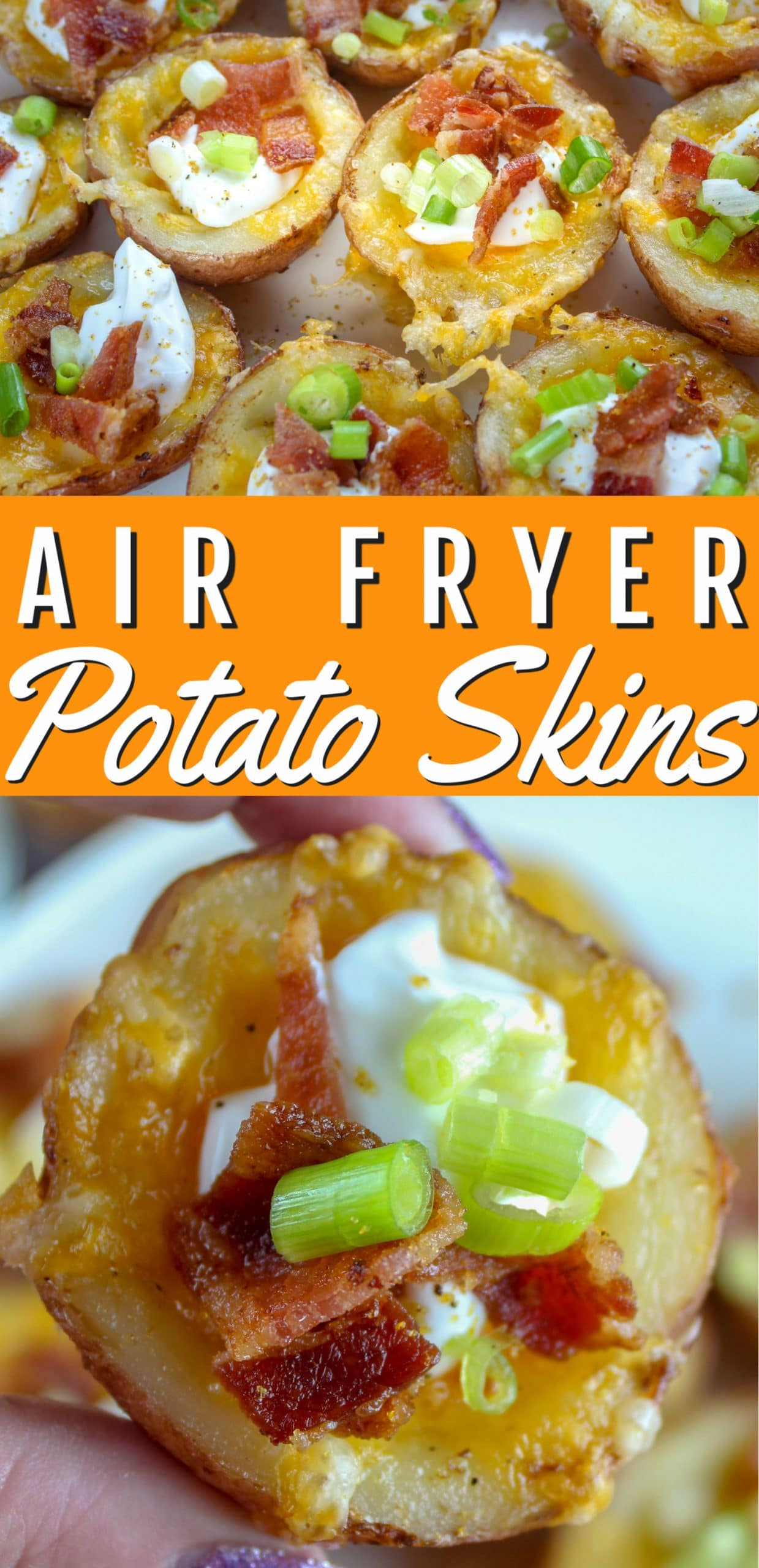 I'm a SUCKER for potato skins - I mean - what's not to love? I've never made them at home - until now! These air fryer potato skins are so much quicker and man on man - I can tell you - I ate the whole plateful. Oye! Cheese, bacon, sour cream - I'm hungry again already!  via @foodhussy
