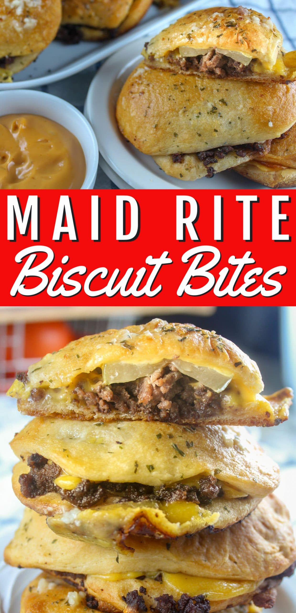 Maid Rites are my hometown favorite meal - I've been eating them since I could chew! These Maid Rite Biscuit Bites are a delicious take on the traditional sandwich made with a can of biscuits and some garlic butter - so good!!!  via @foodhussy