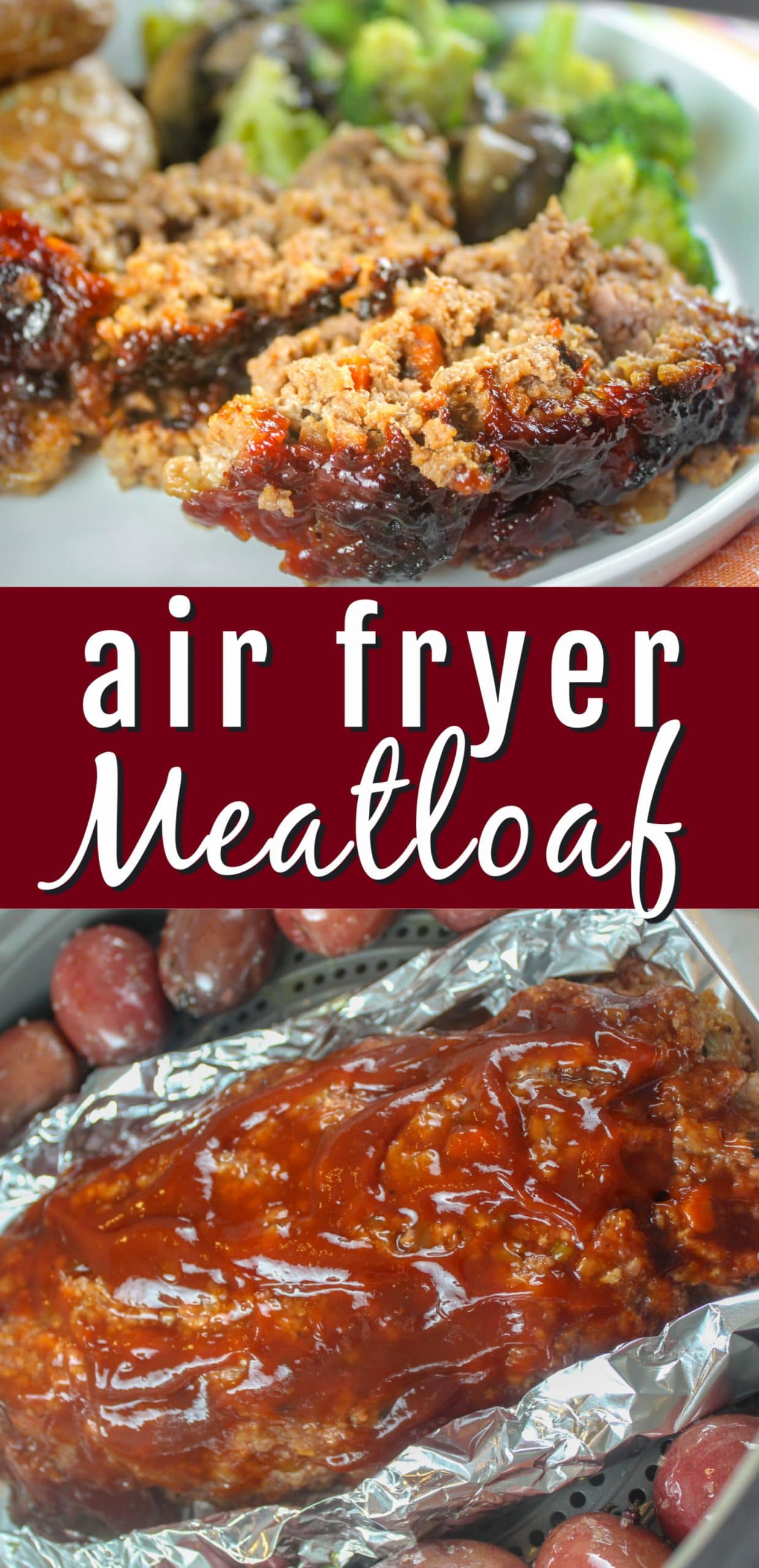 One of my favorite dinners has always been meatloaf - I couldn't have it for years because my ex was allergic to eggs. But now - meatloaf and I are friends again and this air fryer meatloaf will be on your menu too!  via @foodhussy