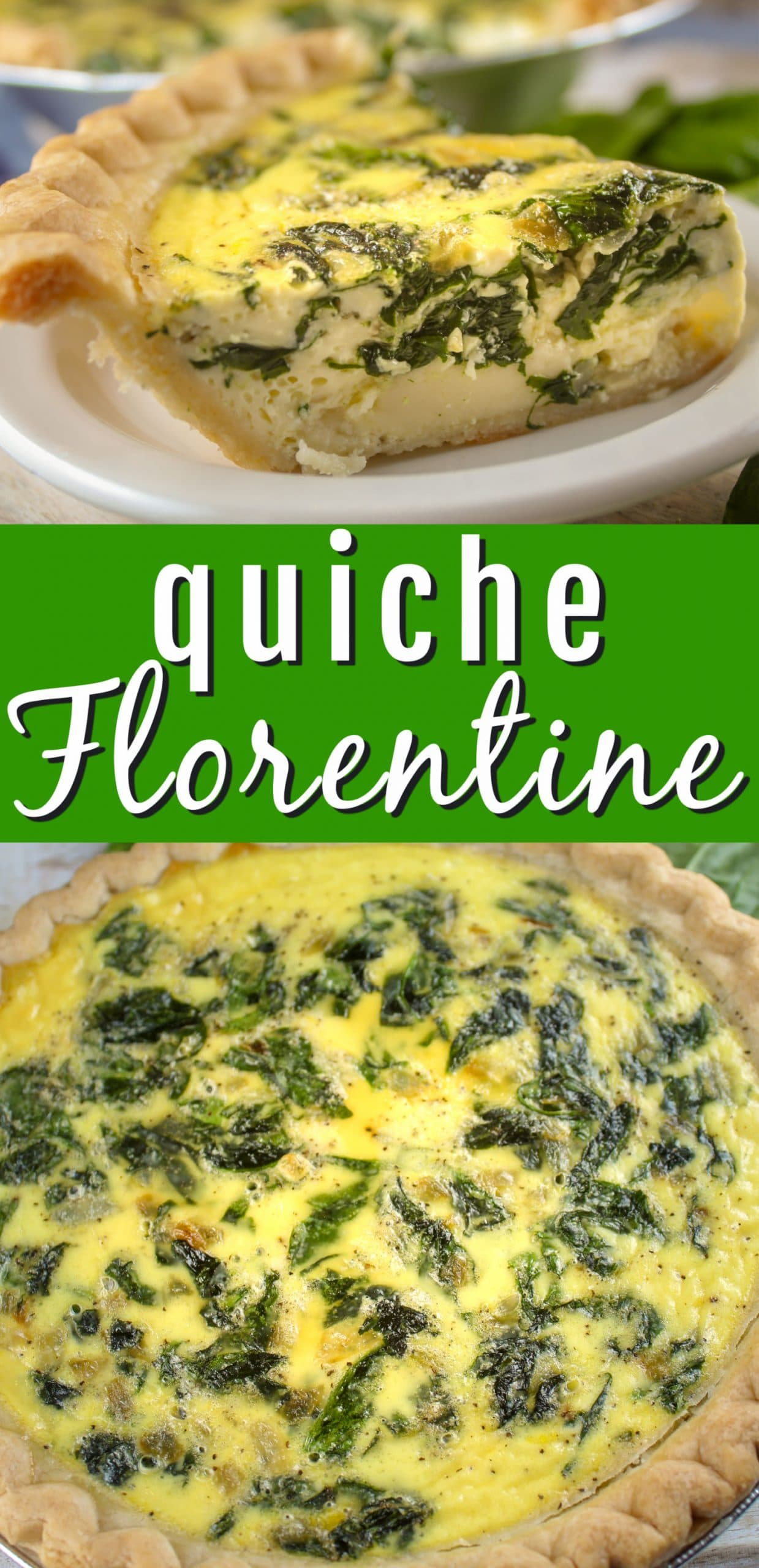 Quiche Florentine is a fancy way of saying spinach quiche and let me tell you - it's a fancy way of saying delicious! I'm normally a meat and cheese girl when it comes to quiche but this delicate dish with sautéed spinach and onions on top of Swiss cheese won me over! via @foodhussy