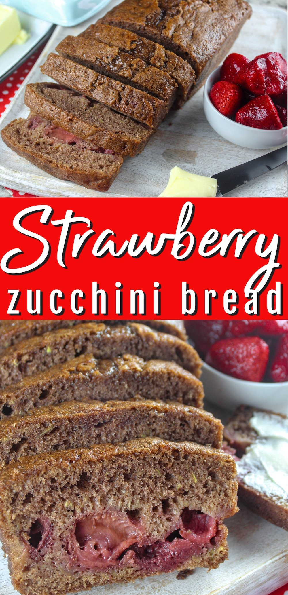 Earlier this year, I discovered the wonders of Zucchini Bread! I liked it so much I wanted to make it again - but this time I jazzed it up with Strawberries from a local grower. But whether you have fresh or frozen - strawberry zucchini bread will definitely be a favorite in your house! via @foodhussy