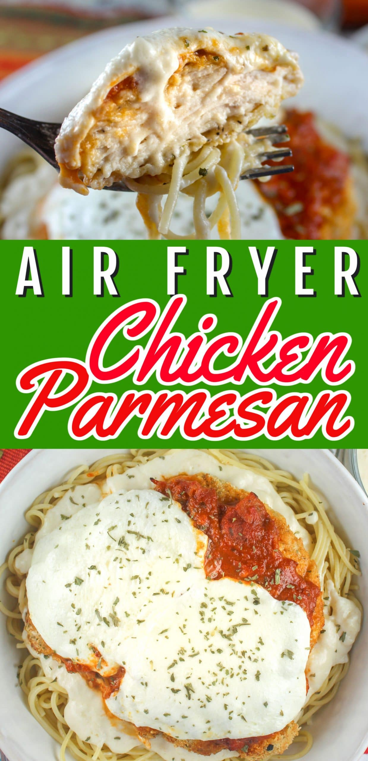 Air Fryer Chicken Parmesan is so delicious! I've been making it every week - and my dinner is ready in under 20 minutes! I've been so excited to share this with you - especially my jazzed up version with a little alfredo sauce too!  via @foodhussy