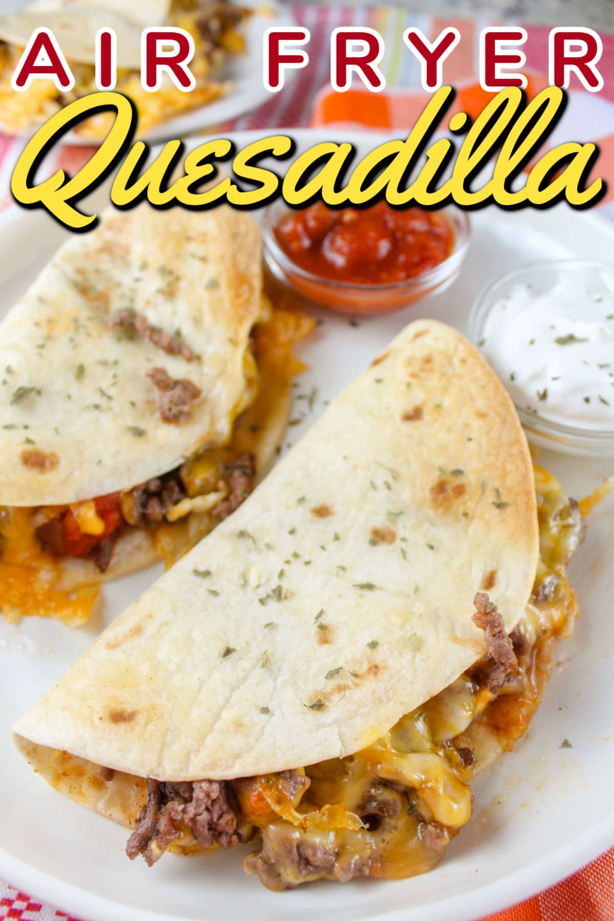 Air Fryer Quesadillas are a super quick and easy weeknight meal or a fun snack anytime! You can have three quesadillas on the table in ten minutes - and everybody can customize theirs so it's exactly what they want.  via @foodhussy