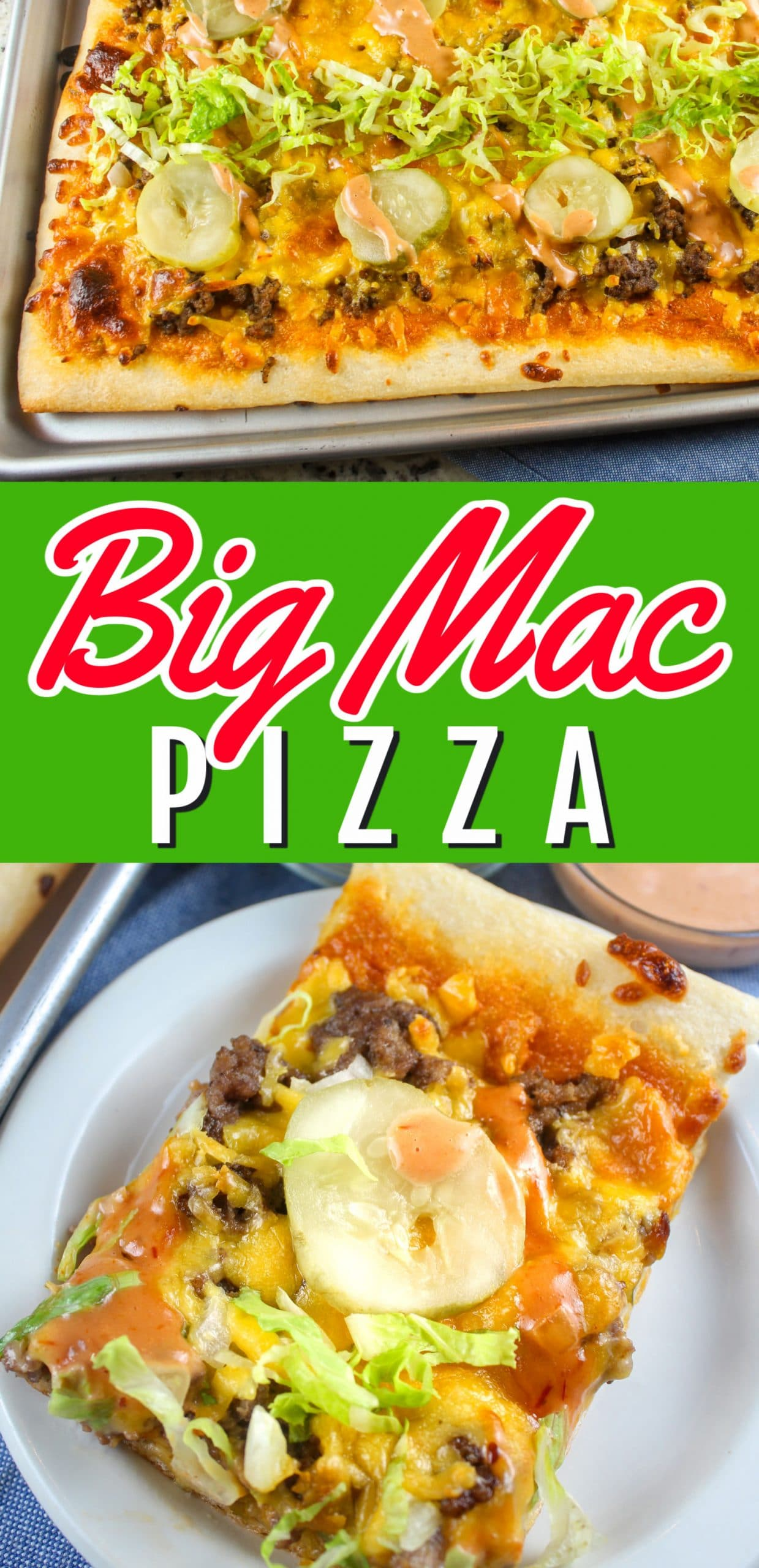 Big Mac Pizza? Yes!!!! I love a Big Mac - it's my go-to order but I never make one at home - yet I'm always making pizza - so let's put the two together! Big Mac Pizza is so fun and you'll be so surprised when you bite into it - it tastes just like a Big Mac! via @foodhussy