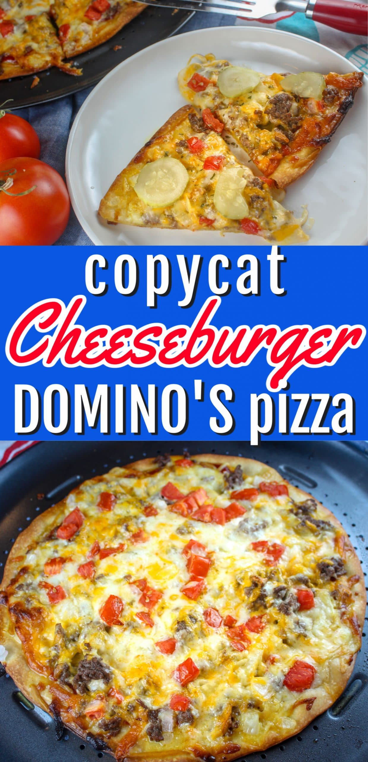 If you've watched TV in the past month - you've seen the commercials for Domino's two new pizzas - the Cheeseburger and Chicken Taco Pizzas. The Cheeseburger Pizza was calling my name and I had to try it. Loved it! So then - I had to make it for you guys! via @foodhussy