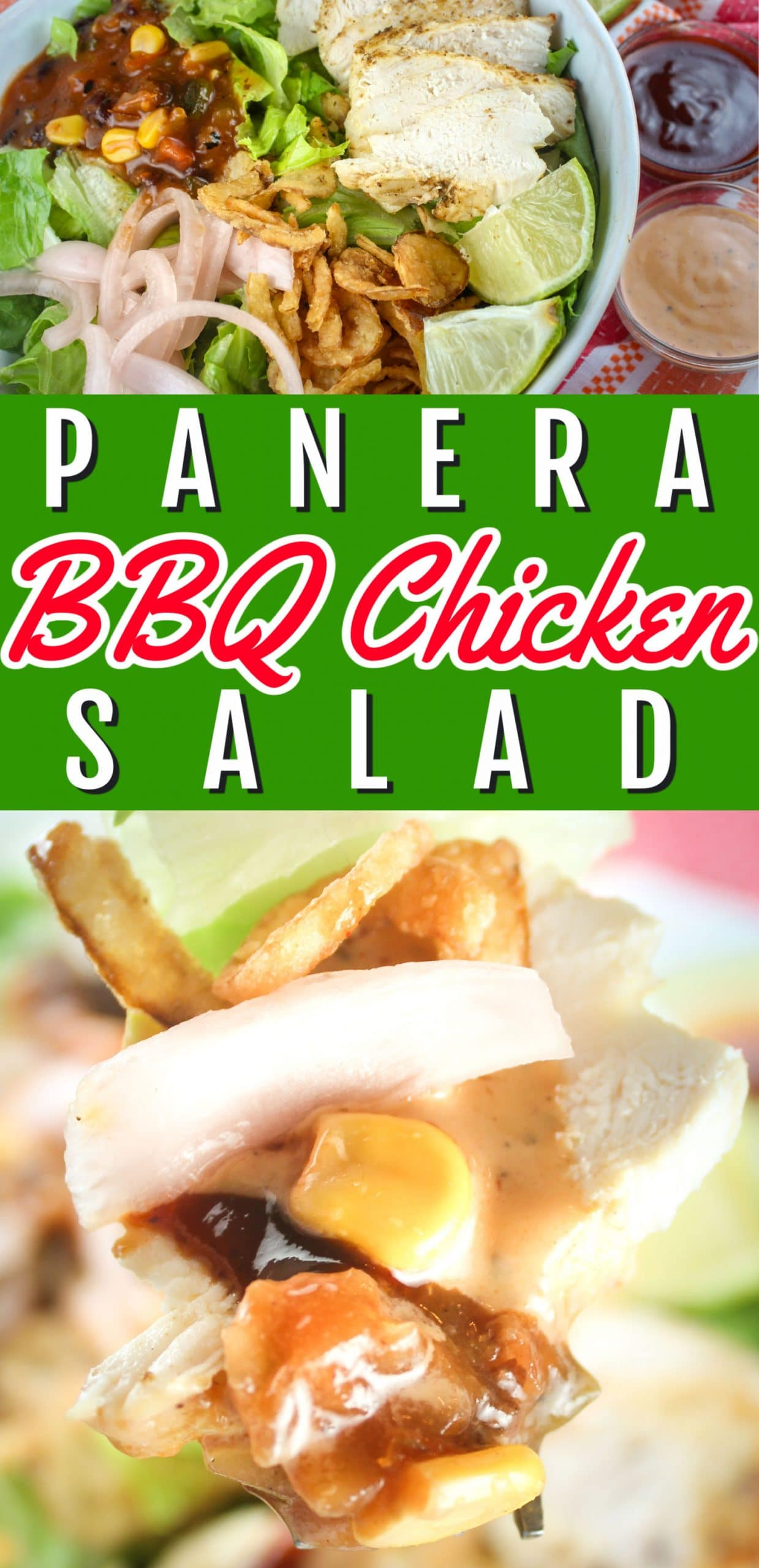 This Copycat Panera Bread BBQ Chicken Salad is brand new and so delicious - you'll have to make it for lunch and dinner! via @foodhussy