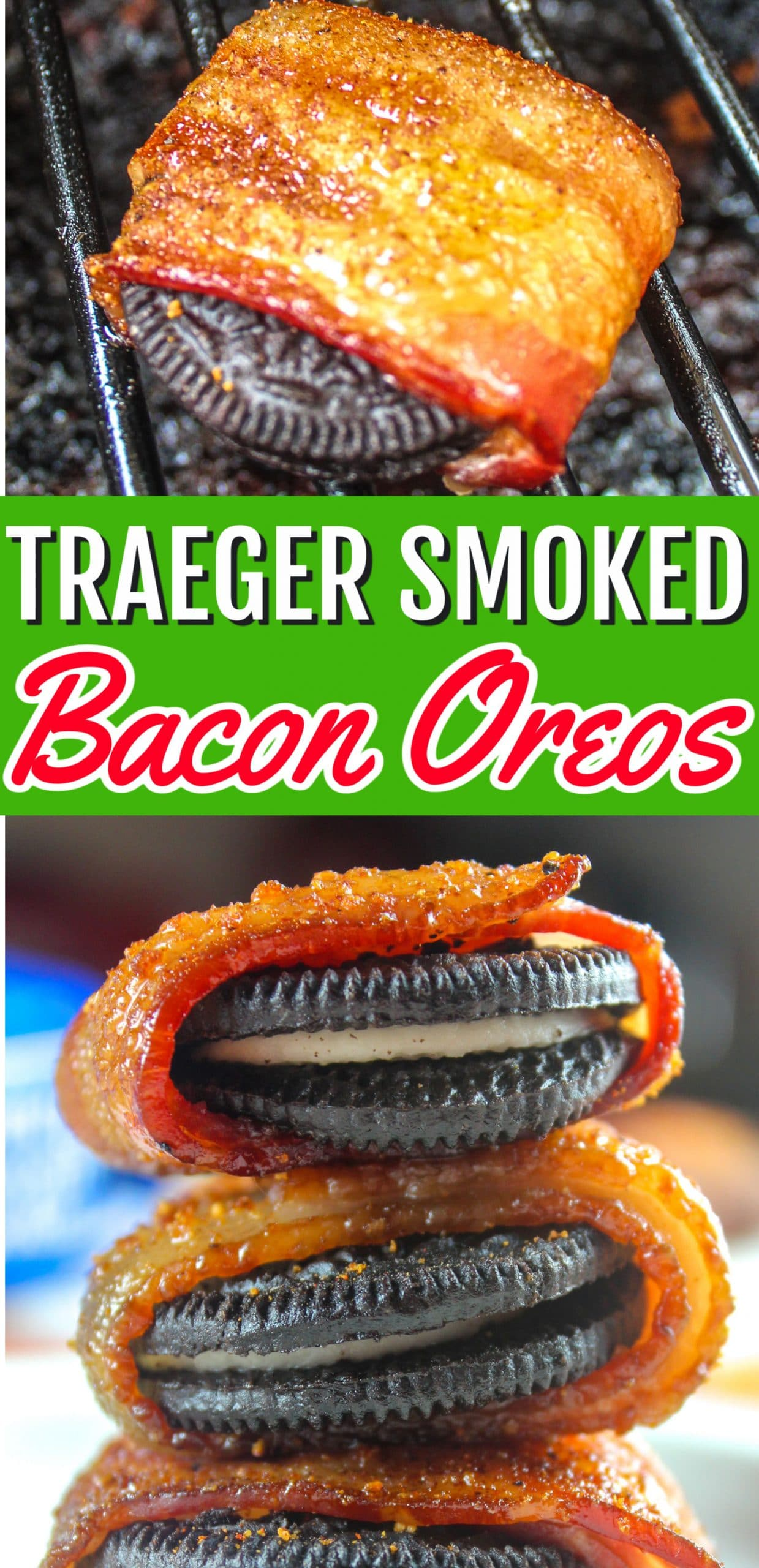 Sometimes I'm just sitting around on a Saturday and think - I want bacon. And then I think - I want Oreos. Guess what - I want both - AT THE SAME TIME! These Traeger Smoked Bacon Wrapped Oreos will satisfy any and all cravings! Sweet? Check! Savory? Check!  via @foodhussy
