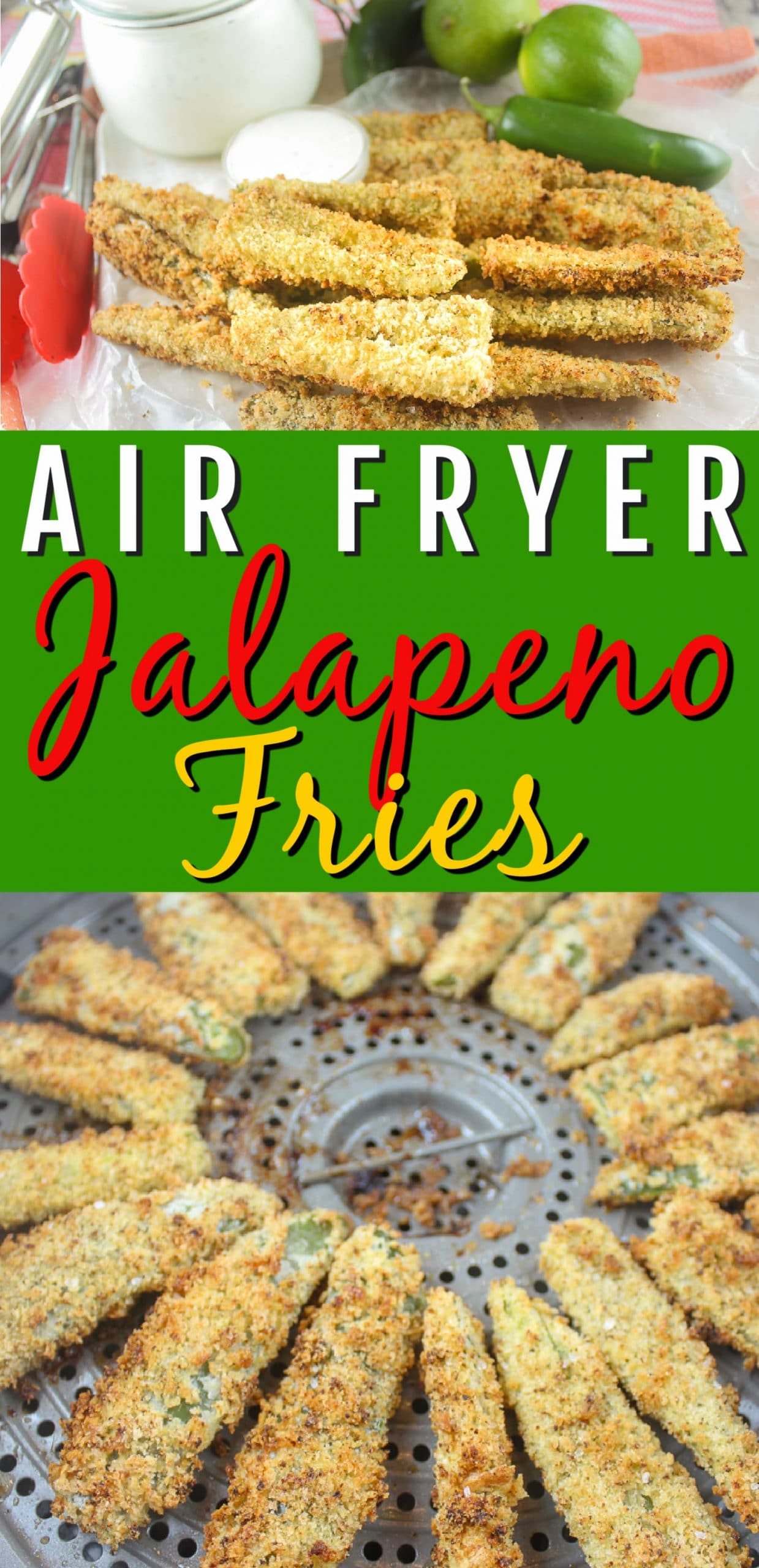 Stop the press - go buy some jalapenos right now and get the air fryer out!!! Air Fryer Jalapeno Fries are going to be your families new favorite!!! These are my new favorite! I ate 5 peppers in one sitting!!!  via @foodhussy