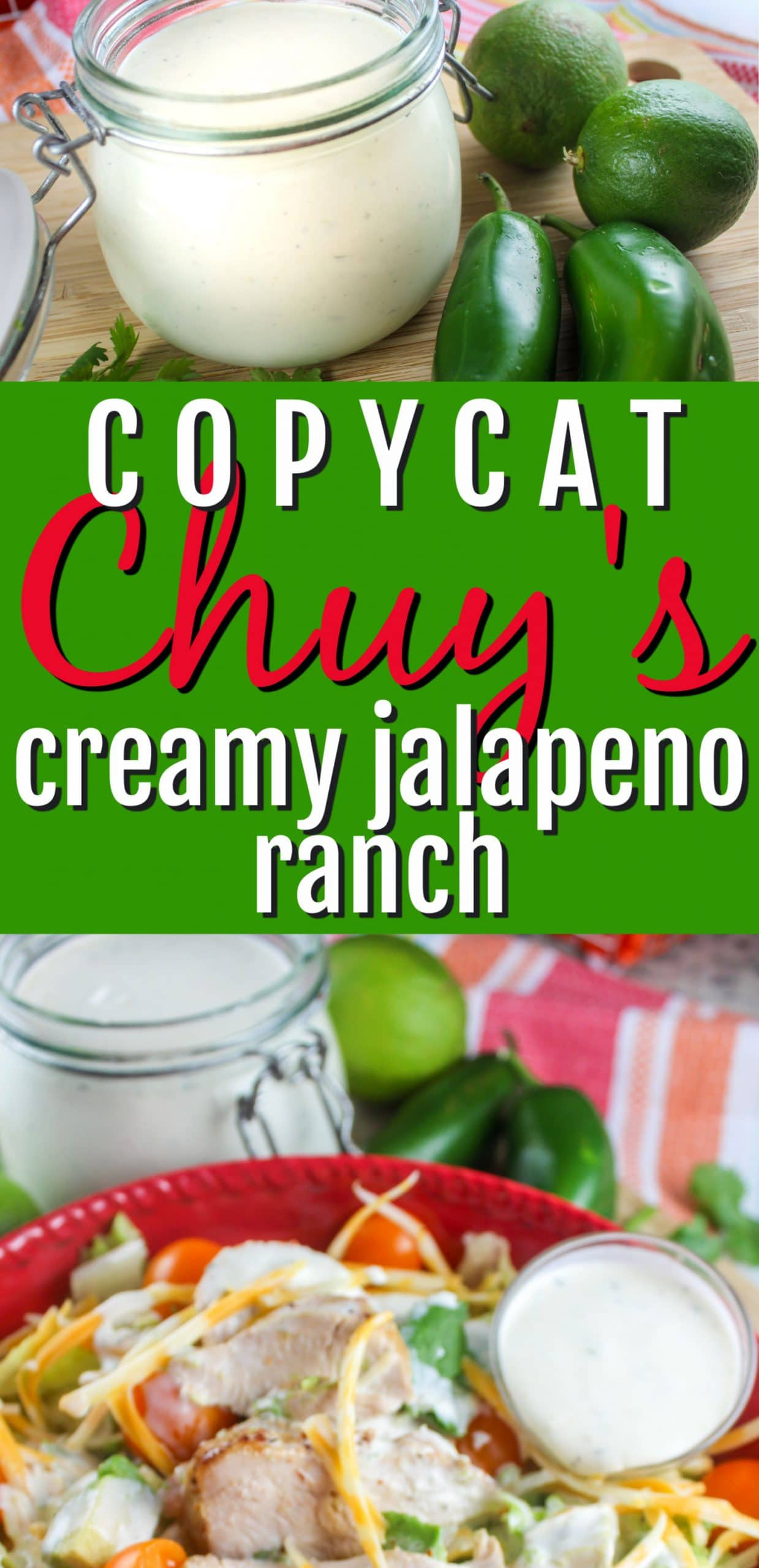 This Copycat Chuy's Creamy Jalapeno Ranch recipe is ready in 5 minutes and is so much better than anything out of a bottle! Chuy's is one of my favorite spots for dining out. I tried their Creamy Jalapeno Ranch and HAD to come home and make it for myself! via @foodhussy