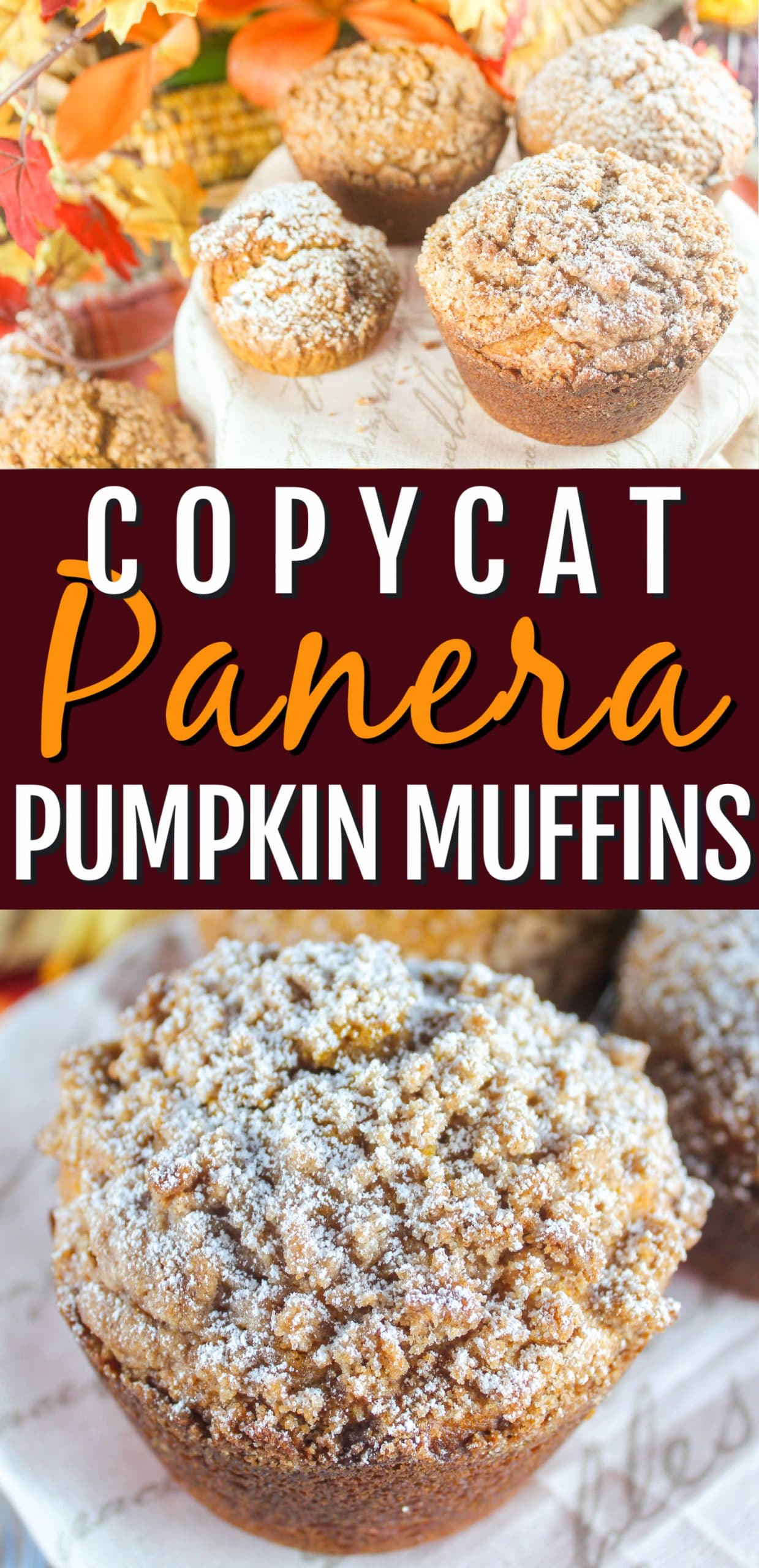 These Copycat Panera Pumpkin Muffins will have you ordering pumpkin spice lattes like a Basic B in 5 seconds flat! They're a delicious balance of pumpkin spice and comforting muffin with an aroma that will fill your home!  via @foodhussy