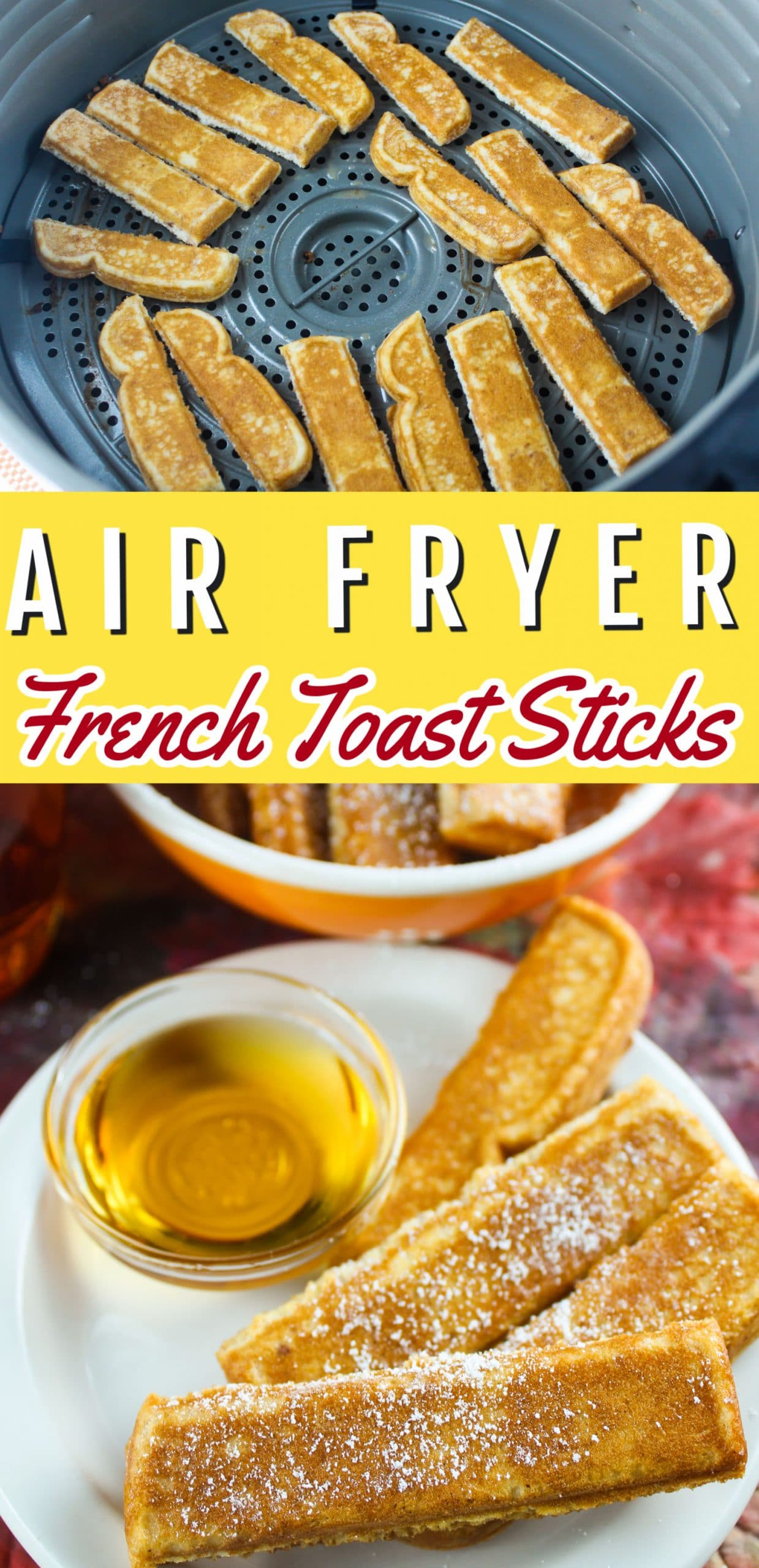 Air Fryer French Toast is my new favorite breakfast! It's super easy and the best part is - you can make your sausage or bacon at the same time!  via @foodhussy