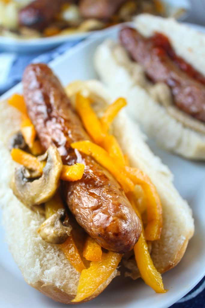 Air Fryer Italian Sausage and Peppers