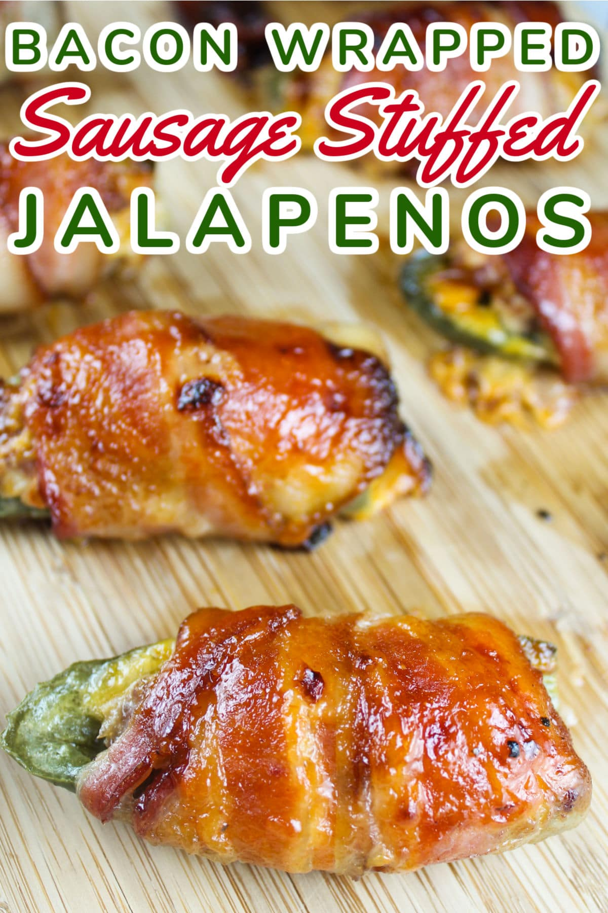 Finger lickin', lip smackin' good - that's how to describe these Sausage Stuffed Jalapenos wrapped in bacon! I literally can't even tell you how amazing these are - you should probably double this recipe - because you're going to eat them ALL!!!!!  via @foodhussy