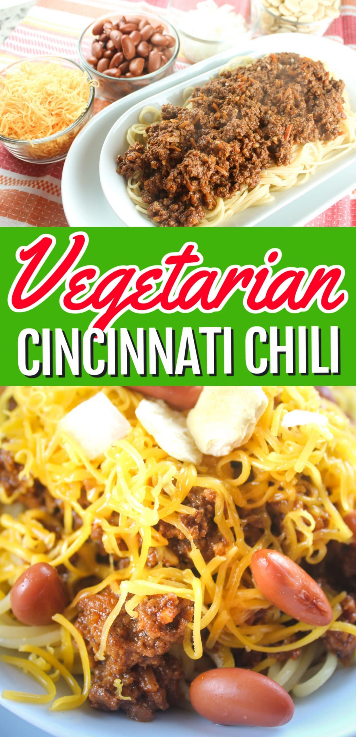 Vegetarian Cincinnati Chili has become a lot easier in this world where plant-based proteins are so much more prevalent. This recipe for a vegetarian version of Cincinnati chili also has some added veggies and a little spice for kick! No worries though - we didn't lose any of the CHEESE!  via @foodhussy